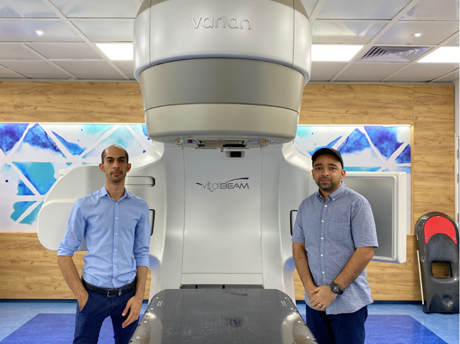 Mr. Kyriakos Frangou, Manager of the Attikouris Medical Division (left) and Mr. Subin Padmanabhan, Attikouris Medical Field Engineer, devoted thousands of work hours to the project